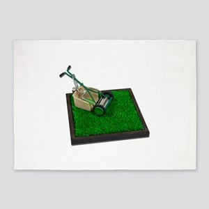 LawnmowerOnTheGrass100711 5'x7'Area Rug