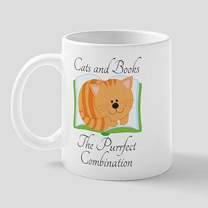 Cute Cats and Books Mug