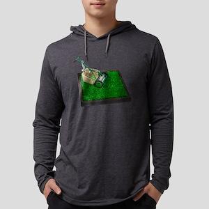 LawnmowerOnTheGrass100711 Mens Hooded Shirt