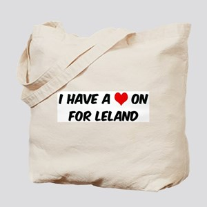 Heart on for Leland Tote Bag