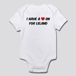 Heart on for Leland Infant Bodysuit