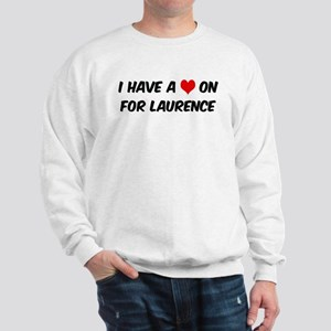 Heart on for Laurence Sweatshirt