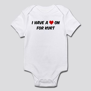 Heart on for Kurt Infant Bodysuit