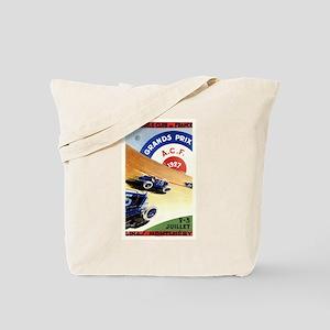Antique 1927 France Grand Prix Race Poster Tote Ba