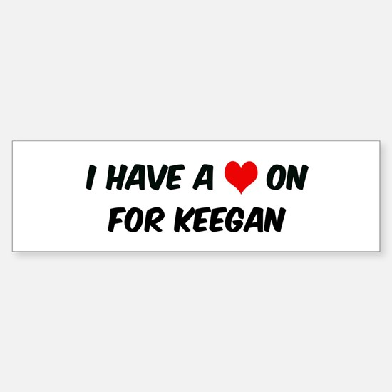 Heart on for Keegan Bumper Bumper Bumper Sticker
