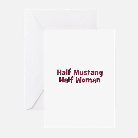 Half MUSTANG Half Woman Greeting Cards (Package of