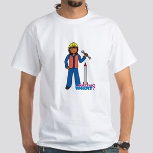 Rocket Scientist Woman Dark White T-Shirt