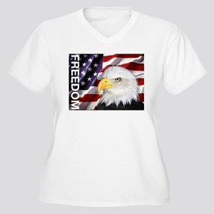 Freedom Flag & Eagle Plus Size T-Shirt
