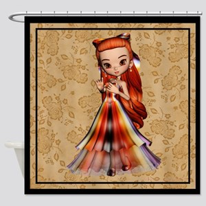 Pretty Dress Cookie Girl 3 Shower Curtain
