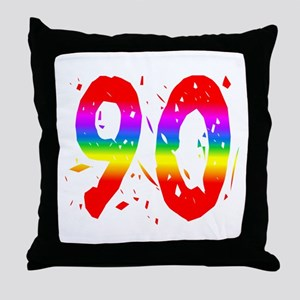 Confetti Rainbow 90 Throw Pillow