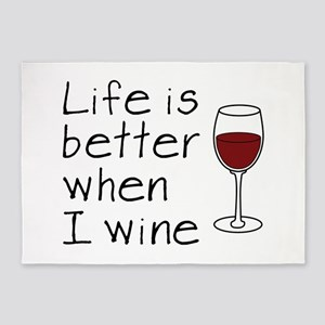 Life is better when I wine 5'x7'Area Rug