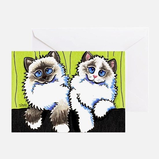 Pair of Dolls Off-Leash Art™ Greeting Card
