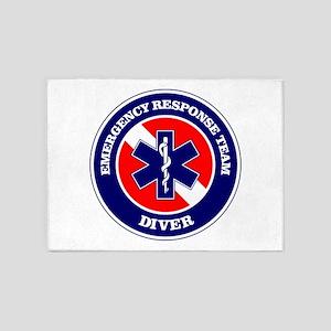 ERT Diver 1 5'x7'Area Rug