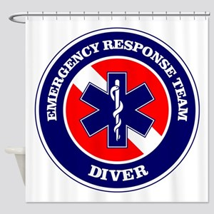 ERT Diver 1 Shower Curtain