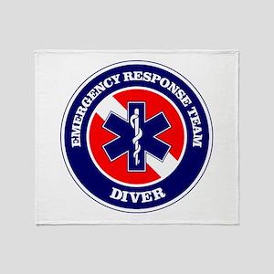 ERT Diver 1 Throw Blanket