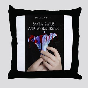 Santa Claus and Little Sister Throw Pillow