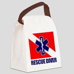 Rescue Diver (emt) Canvas Lunch Bag