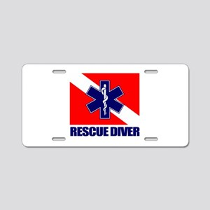 Rescue Diver (emt) Aluminum License Plate