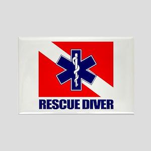 Rescue Diver (emt) Rectangle Magnet