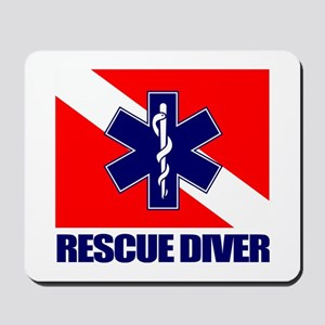 Rescue Diver (emt) Mousepad