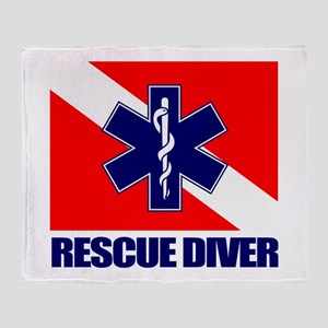 Rescue Diver (emt) Throw Blanket
