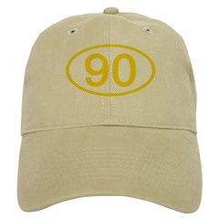 Number 90 Oval Baseball Cap