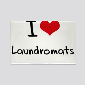 I Love Laundromats Rectangle Magnet