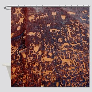 Newspaper Rock Petroglyph Shower Curtain