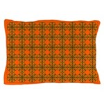 Field of Brown Flowers Pillow Case
