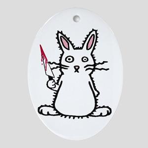 Psycho Bunny Oval Ornament