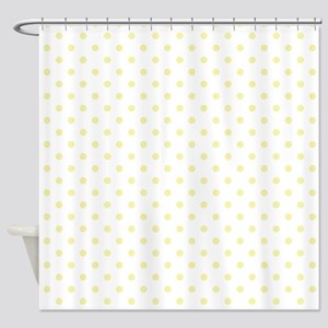 White w/Yellow Dots Shower Curtain