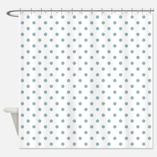 Light Blue Dots Shower Curtain