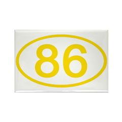 Number 86 Oval Rectangle Magnet