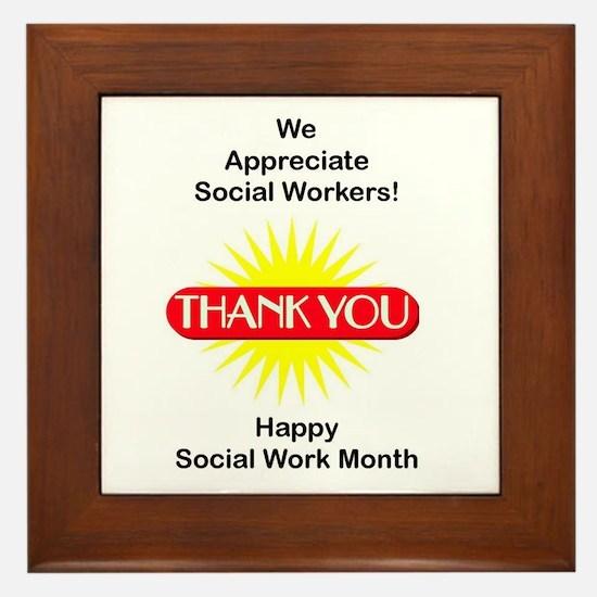Social Work Appreciation Framed Tile