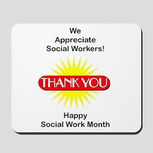 Social Work Appreciation Mousepad
