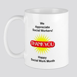 Social Work Appreciation Mug