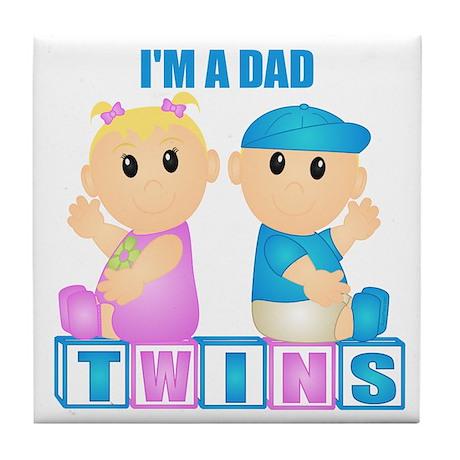 I'm A Dad (BBG:blk) Tile Coaster