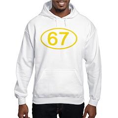 Number 67 Oval Hoodie