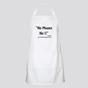 Compliance No Means No BBQ Apron