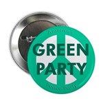 """Green Party Peace Sign 2.25"""" Button"""
