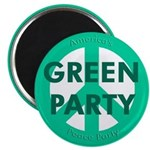 Green Party Peace Sign Magnet Magnets