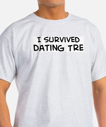 Survived Dating Tre Ash Grey T-Shirt