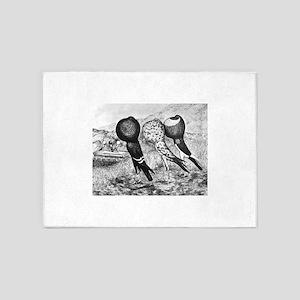 Brunner Pouter Pigeons 5'x7'Area Rug