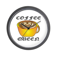 Coffee Queen Wall Clock