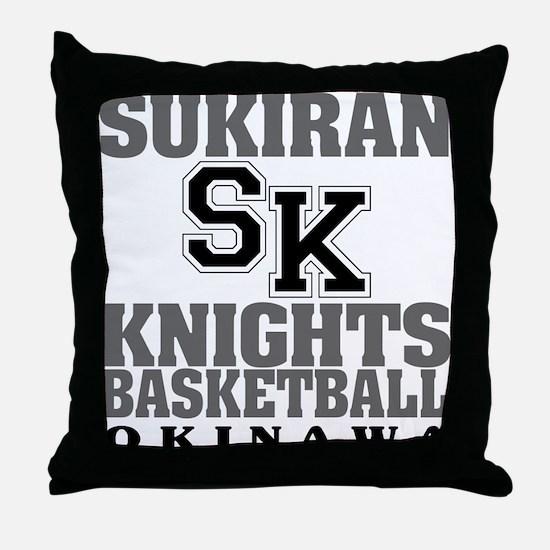 Knights Basketball Throw Pillow