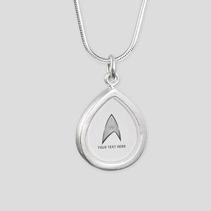 Star Trek Symbol Persona Silver Teardrop Necklace