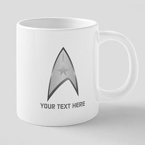 Star Trek Symbol Personaliz 20 oz Ceramic Mega Mug