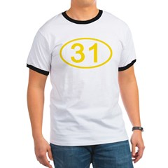 Number 31 Oval T