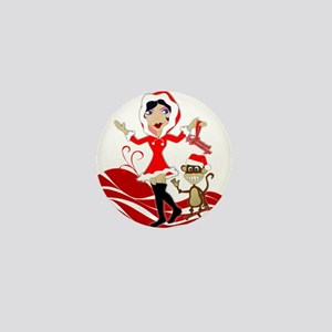 Holly Girl & Monkey Mini Button (10 pack)
