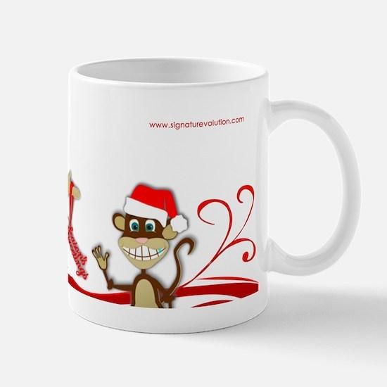 Holly Girl & Monkey Mug